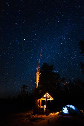 Winter Camping, Paignton Beach, Prince Albert National Park