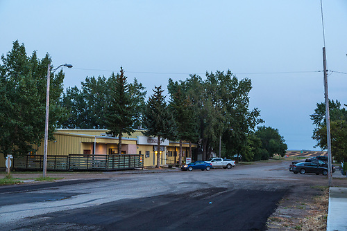 Riverhurst, Saskatchewan, at dusk, Saturday evening, Labour Day weekend, 2012 (Darrell Noakes)