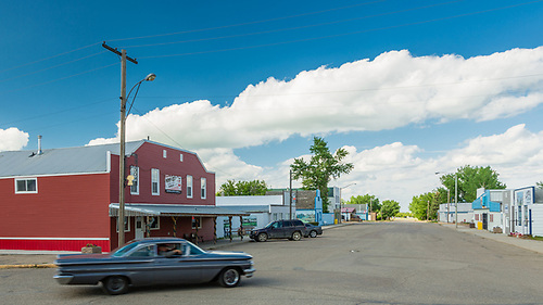 Central Butte, Saskatchewan, Canada Day evening. Debby-Lee's Diner in the Central Butte Hotel. (Darrell Noakes)