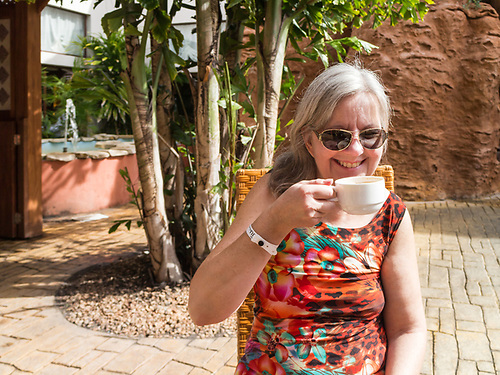 Varadero, Cuba. Enoying a cappuccino. (Darrell Noakes)