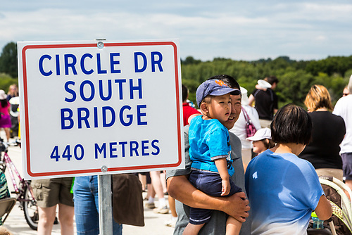 Circle Drive South Bridge officially opens, Wednesday, July 31, 2013. (Darrell Noakes)