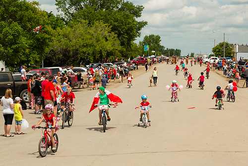 Canada Day Parade, Elbow, SK (Photograph by Darrell Noakes)